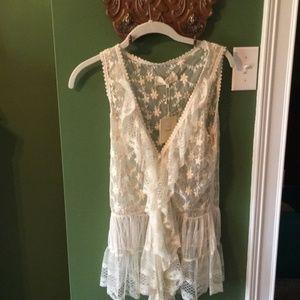 WAS $42 Areve Lace Vest